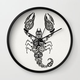 Black Scorpion Wall Clock