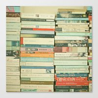 vintage Canvas Prints featuring Bookworm by Cassia Beck
