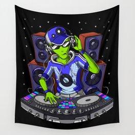 Space Alien Music DJ Wall Tapestry