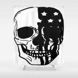 American Psycho Skull Shower Curtain