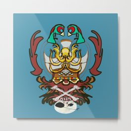 Pirates Treasures Crest Metal Print