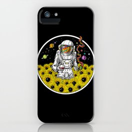 Psychonaut Space Psychedelic Astronaut iPhone Case