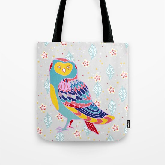 Cherry Owl Tote Bag