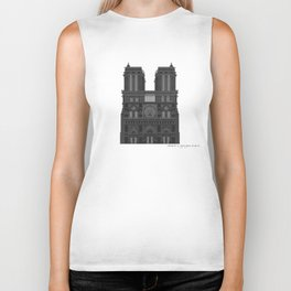 HexArchi - France, Paris, Cathedral of Notre Dame de Paris Biker Tank