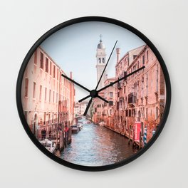 Venice During Magic Hour   Europe Italy City Travel Photography of Venice Canals Wall Clock