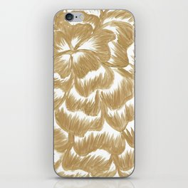 Golden Dahlia Flower iPhone Skin