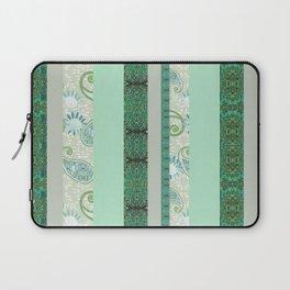 French Stripe Green/Grey Laptop Sleeve