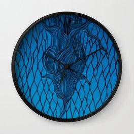 A paper flower Wall Clock