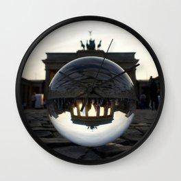 Brandenburg Gate, Berlin Germany / Glass Ball Photography Wall Clock