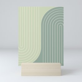 Two Tone Line Curvature XXX Mini Art Print