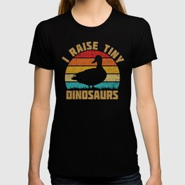 I Raise Tiny Dinosaurs Vintage Retro Duck T-shirt