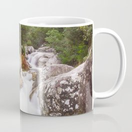 Wild river in the forest Coffee Mug