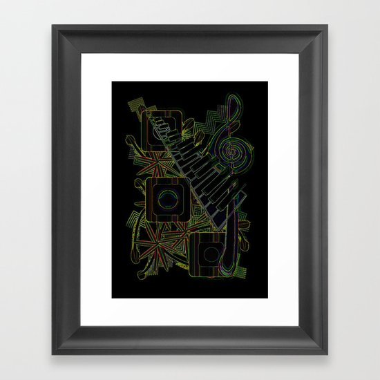 Jazz Club Framed Art Print