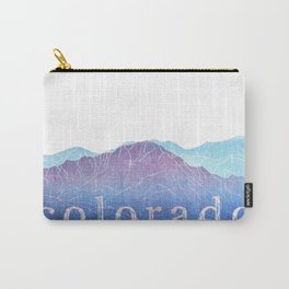 Colorado Mountain Ranges_Pikes Peak + Continental Divide Carry-All Pouch