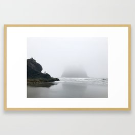 Disappearing Into La Push Framed Art Print