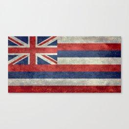 Hawaiian Flag in Vintage Retro Style Canvas Print