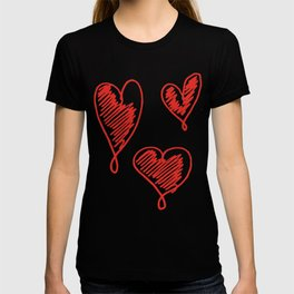 friends hearts T-shirt