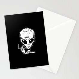 Weed Alien | Cannabis Marihuana Smoker 420 Gifts Stationery Cards
