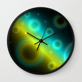 Bubbles Abstract Background G115 Wall Clock