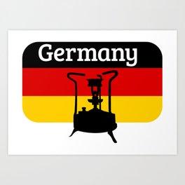 Pressure Stove with German Flag Art Print