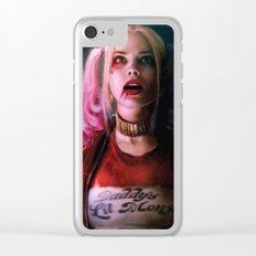 Harley Quinn Suicide Movie Illustration - Margot Robbie Artwork Clear iPhone Case