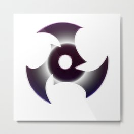 Midnight Shuriken Metal Print
