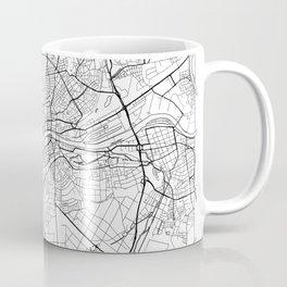 Frankfurt Map White Coffee Mug