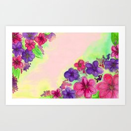 June flowers Art Print