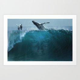 Where the sky meets the ocean Art Print