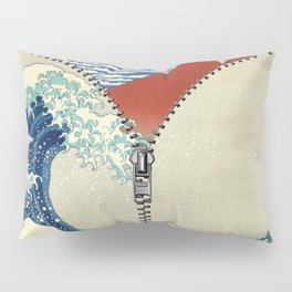 Mt. Fuji and the Wave Pillow Sham