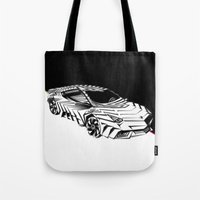lamborghini Tote Bags featuring ///Lamborghini NuReventón XREEM\\\ by NurRahman