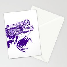 purple frog II Stationery Cards
