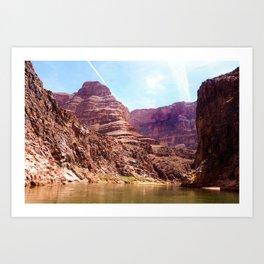 Rafting the Colorado River Art Print