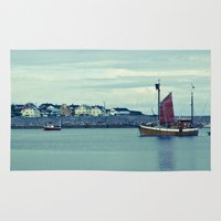 norway Area & Throw Rugs featuring Norway Ship's by Davide Carnevale