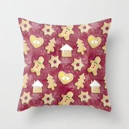 Gingerbread Christmas Cookies Throw Pillow
