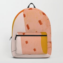 Abstract Sherbet Shapes Of Orange And Yellow. Backpack