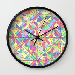 Vector colored mosaic pattern. Abstract geometric Wall Clock
