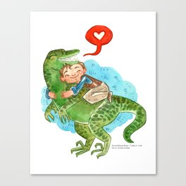 Jurassic World Hug Canvas Print