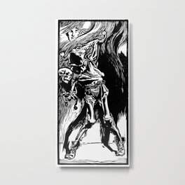Death as a Jester Metal Print