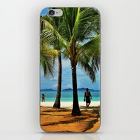 philippines iPhone & iPod Skins featuring Malcapuya Island, Philippines by Filipinka