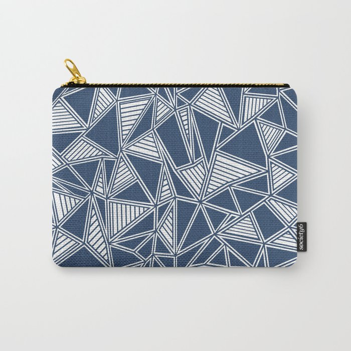 Abstract Outline Lines Navy Carry-All Pouch