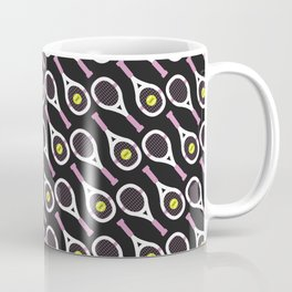 Tennis Pattern (Black/Pink) Coffee Mug