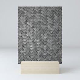 silver woven straw Mini Art Print
