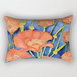 Pardon my Poppies Rectangular Pillow