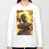 boba fett Long Sleeve T-shirts featuring Boba Fett by Andre Horton