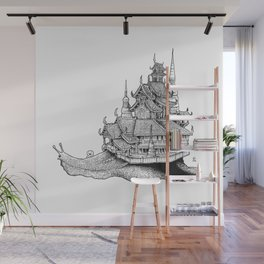 Snail Temple Wall Mural