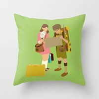 moonrise kingdom Throw Pillows featuring moonrise kingdom by Live It Up