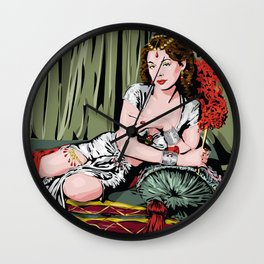 Hedy Lamarr Wall Clock