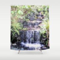 thailand Shower Curtains featuring Thailand, painted version by MehrFarbeimLeben