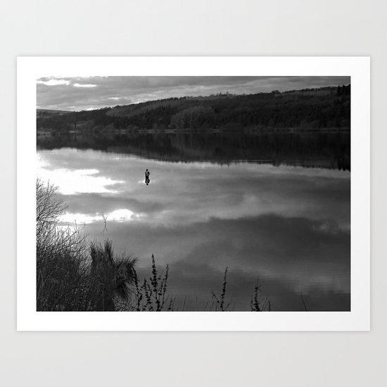 Fewston Angler 2 Art Print
